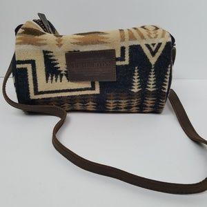 Pendleton Tribal Tan and Black Crossbody Bag